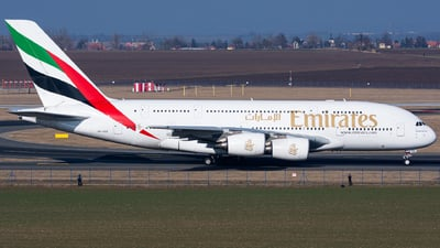 A picture of A6EEE - Airbus A380861 - Emirates - © Cibulka Tomas