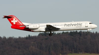 HB-JVE - Fokker 100 - Helvetic Airways