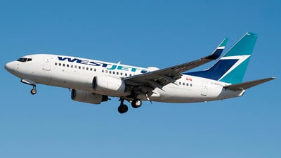 A picture of CGQWJ - Boeing 7377CT - WestJet - © Brian Boche