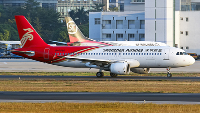 A picture of B6566 - Airbus A320214 - Shenzhen Airlines - © lihutao