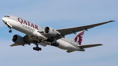 A picture of A7BFD - Boeing 777FDZ - Qatar Airways - © Debregabor