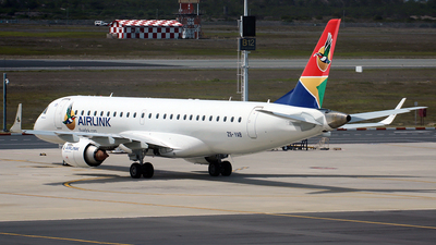 ZS-YAB - Embraer 190-100LR - Airlink