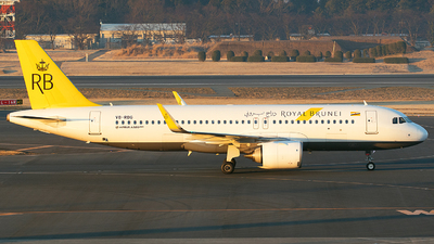 A picture of V8RBG - Airbus A320251N - Royal Brunei Airlines - © BennyH