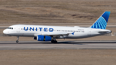 A picture of N419UA - Airbus A320232 - United Airlines - © Yixin Chen