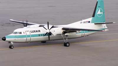 LX-LGC - Fokker 50 - Luxair - Luxembourg Airlines