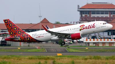 PK-LZH - Airbus A320-214 - Batik Air