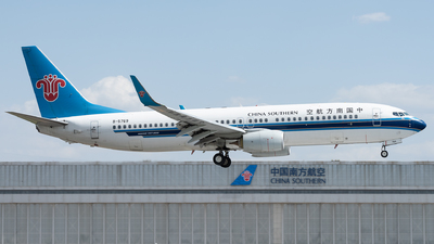 A picture of B5769 - Boeing 73781B - China Southern Airlines - © xuhaoqing995
