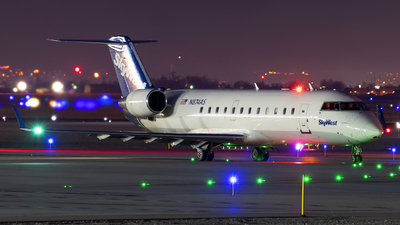A picture of N874AS - Mitsubishi CRJ200LR - SkyWest Airlines - © Michael Rodeback