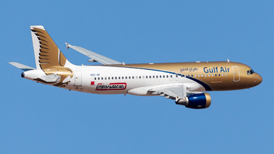 A picture of A9CAF - Airbus A320214 - Gulf Air - © AirlinerSpotter