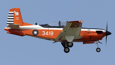 3418 - Beechcraft T-34C Turbo Mentor - Taiwan - Air Force