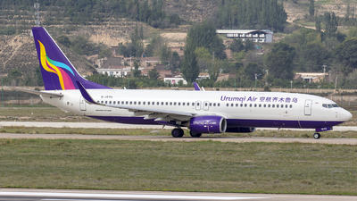 A picture of B1570 - Boeing 73784P - Urumqi Airlines - © Eric Wang