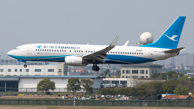A picture of B6887 - Boeing 7378MB - Xiamen Air - © Sweet Potato