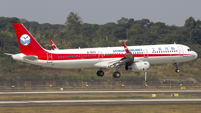 A picture of B1823 - Airbus A321231 - Sichuan Airlines - © XieTM