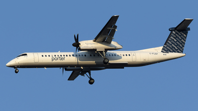 A picture of CFLQY - De Havilland Canada Dash 8400 - Porter Airlines - © DJ Reed - OPShots Photo Team
