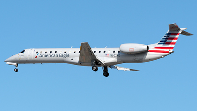 A picture of N602AE - Embraer ERJ145LR - American Airlines - © zhangmx969