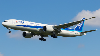 A picture of JA795A - Boeing 777300(ER) - All Nippon Airways - © walker2000