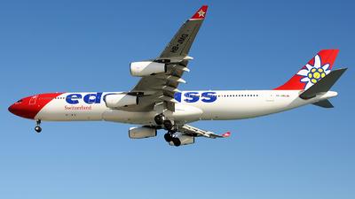 A picture of HBJMG - Airbus A340313 - Edelweiss Air - © Alexander Portas