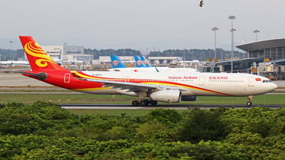 A picture of B6527 - Airbus A330343 - Hainan Airlines - © Zihao Wang ~ AHaoo