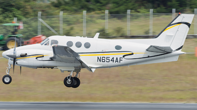 N654AF - Beechcraft C90GTi King Air - Private