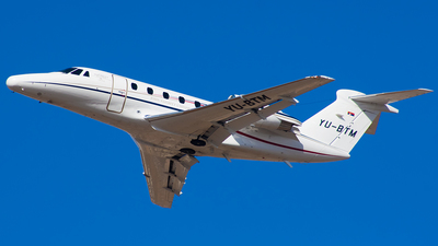 YU-BTM - Cessna 650 Citation VII - Infinity Flight Services