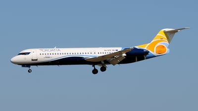9A-BTE - Fokker 100 - Croatia Airlines (Trade Air)
