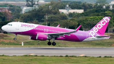 A picture of JA04VA - Airbus A320214 - Peach - © Hon Kit