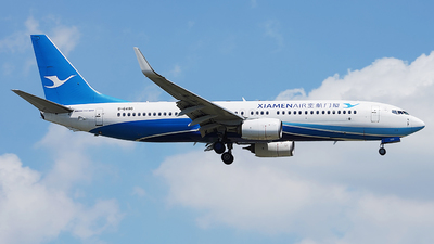 A picture of B6490 - Boeing 73785C - Xiamen Air - © CRESTHONG