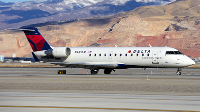 A picture of N449SW - Mitsubishi CRJ200LR - Delta Air Lines - © Michael Rodeback