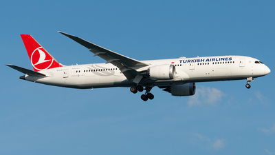 A picture of TCLLD - Boeing 7879 Dreamliner - Turkish Airlines - © Ryan He