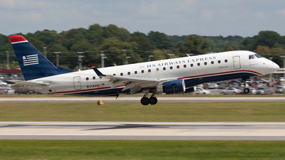 N114HQ - Embraer 170-200LR - US Airways Express (Republic Airlines)
