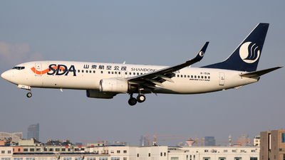 A picture of B1508 - Boeing 73785N - Shandong Airlines - © laohan