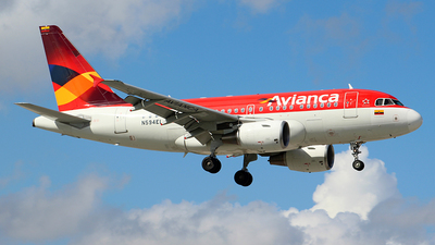 N594EL - Airbus A318-111 - Avianca