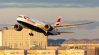G-ZBJE - Boeing 787-8 Dreamliner - British Airways