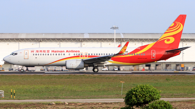 A picture of B5581 - Boeing 73784P - Hainan Airlines - © Egg_Shadowsine Aviation