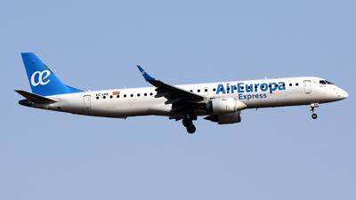 A picture of ECLEK - Embraer E195LR - Air Europa - © Javier Rodriguez - Amics de Son Sant Joan