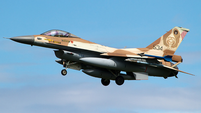 534 - General Dynamics F-16C Barak   - Israel - Air Force