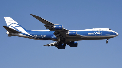 A picture of VQBFE - Boeing 74783Q(F) - AirBridgeCargo Airlines - © DZX_14572
