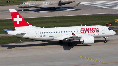 A picture of HBJBE - Airbus A220100 - Swiss - © Melanie Niedermeier