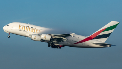 A picture of A6EUV - Airbus A380842 - Emirates - © Leo Sheng