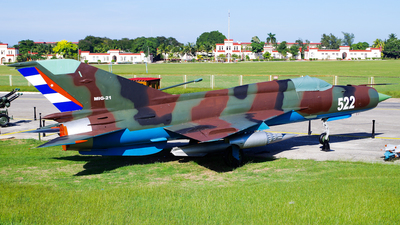 522 - Mikoyan-Gurevich MiG-21 Fishbed - Cuba - Air Force