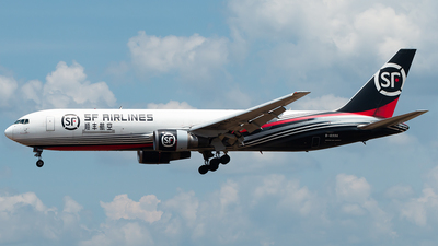 A picture of B6996 - Boeing 767338(ER)(BCF) - SF Airlines - © Hon Kit
