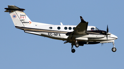 A picture of ECNFX - Beech King Air 250 - [BY172] - © Javier Rodriguez - Amics de Son Sant Joan