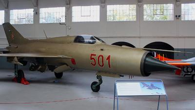 501 - Mikoyan-Gurevich MiG-21PF Fishbed - Hungary - Air Force