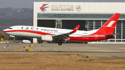 A picture of B5545 - Boeing 73786N - Shanghai Airlines - © SEN BAI