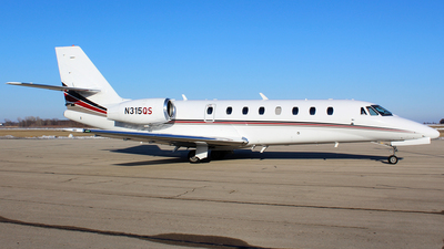 A picture of N315QS - Cessna 680 Citation Sovereign - NetJets - © Gary C. Orlando