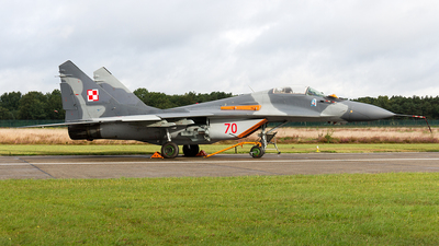 70 - Mikoyan-Gurevich MiG-29A Fulcrum - Poland - Air Force