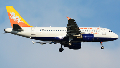 A5-RGF - Airbus A319-115 - Druk Air - Royal Bhutan Airlines