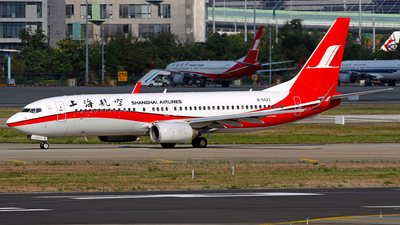 A picture of B5523 - Boeing 73786D - Shanghai Airlines - © Stefano R
