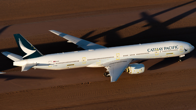A picture of BHNQ - Boeing 777367 - Cathay Pacific - © Mitch Coad