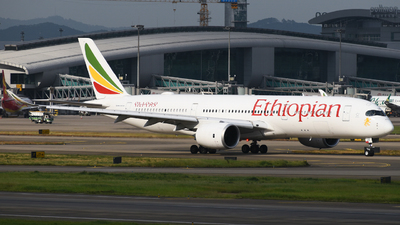 A picture of ETAUB - Airbus A350941 - Ethiopian Airlines - © SS8-0002